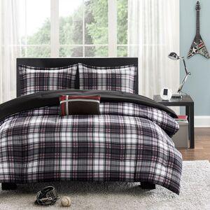 Zone Mi Zone David Reversible Comforter Set, Black, Full/Queen