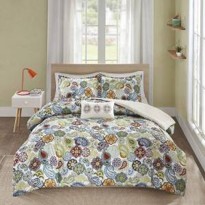 Zone Mi Zone Asha Comforter Set, Multicolor, Full/Queen