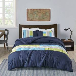 Zone Mi Zone Circuit Comforter Set, Blue, King