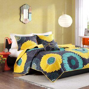 Zone Mi Zone Iris Quilt Set, Yellow, Twin