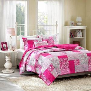 Zone Mi Zone May Reversible Quilt Set, Pink, Twin
