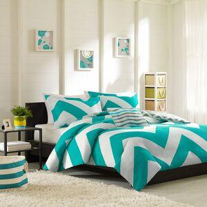 Zone Mi Zone Aries Chevron Reversible Comforter Set, Blue, Full/Queen