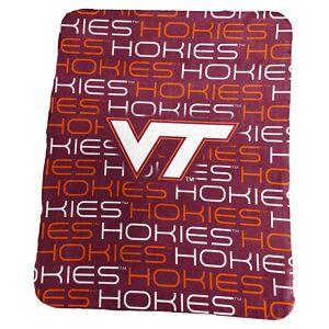 Logo Brand Virginia Tech Hokies Classic Fleece Blanket, Red