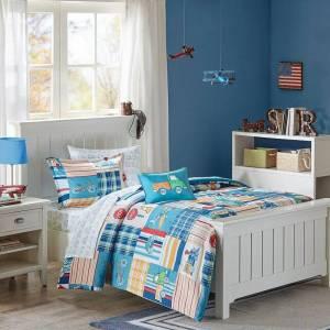Zone Mi Zone Kids Traveling Trevor Comforter Set, Blue, Twin