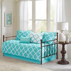 Madison Park Essentials 6-piece Almaden Daybed Set, Turquoise/Blue, DAYBED REG