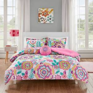 Zone Mi Zone Corinne Floral Comforter Set, Pink, Full/Queen