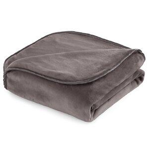 Vellux Heavyweight 12-Pound Weighted Throw Blanket, Grey, 12 LBS