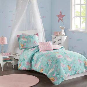 Zone Mi Zone Kids Leilani Printed Mermaid Comforter Set, Turquoise/Blue, Twin