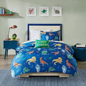 Zone Mi Zone Kid's Tyler Complete Bed and Sheet Set, Blue, Twin