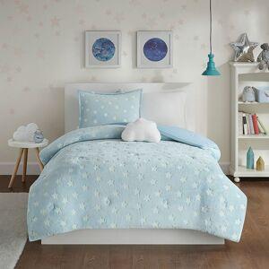 Zone Mi Zone Kids Avery Glow In The Dark Plush Comforter Set, Turquoise/Blue, Twin