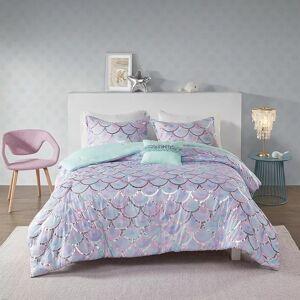 Zone Mi Zone Phoebe Metallic Printed Reversible Comforter Set, Multicolor, Twin