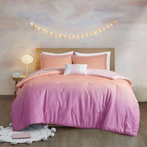 Zone Mi Zone Sparkle Metallic Glitter Printed Reversible Comforter Set, Pink, Twin