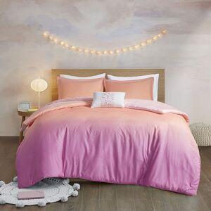 Zone Mi Zone Sparkle Metallic Glitter Printed Reversible Duvet Cover Set, Pink, Full/Queen
