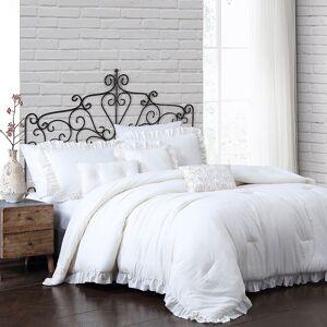Unbranded Davina Enzyme Washed Comforter Set, White, King