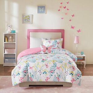 Zone Mi Zone Kids Caroline Printed Butterfly Comforter and Sham Set, Pink, Twin