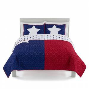 The Big One Reversible Texas Quilt Set and Shams, King
