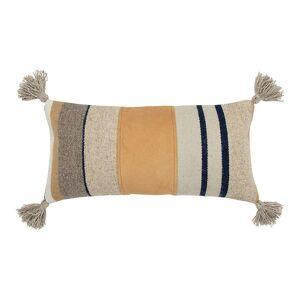 Rizzy Home Vanessa Wool Blend Down Fill Oblong Throw Pillow, 12X24