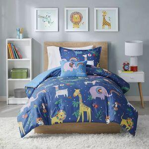Zone Mi Zone Kids Rainbow Safari Printed Comforter Set and Shams, Multicolor, Twin