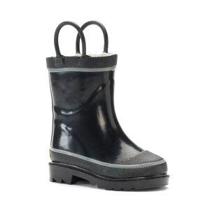 Western Digital Chief Firechief 2 Kids Waterproof Rain Boots, Boy's, Size: 6 T, Black