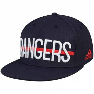 adidas Men's adidas Navy New York Rangers Culture Middle Bar Flex Hat, Size: Large/XL, Blue