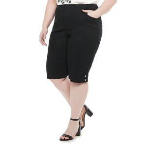 Croft & Barrow Plus Size Croft & Barrow Button Skimmers, Women's, Size: 1XL, Black