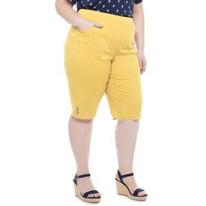 Croft & Barrow Plus Size Croft & Barrow Button Skimmers, Women's, Size: 1XL, Yellow