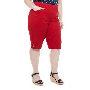 Croft & Barrow Plus Size Croft & Barrow Button Skimmers, Women's, Size: 1XL, Med Red