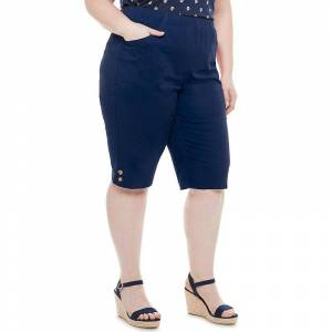 Croft & Barrow Plus Size Croft & Barrow Button Skimmers, Women's, Size: 1XL, Dark Blue