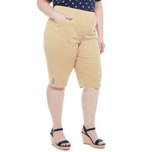 Croft & Barrow Plus Size Croft & Barrow Button Skimmers, Women's, Size: 1XL, Lt Beige