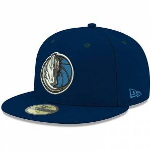 Men's New Era Navy Dallas Mavericks Official Team Color 59FIFTY Fitted Hat, Size: 7 1/8, Blue
