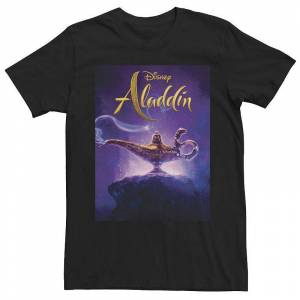 Disney s Aladdin Men's Lamp Poster Graphic Tee, Size: Small, Black