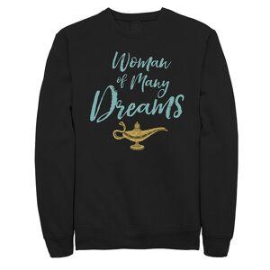 Licensed Character Junior's Aladdin 'Woman Of Many Dreams' Fleece, Girl's, Size: Medium, Black