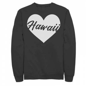 Unbranded Juniors' Hawaii Heart Graphic Sweatshirt, Girl's, Size: Large, Black
