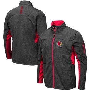 Men's Colosseum Heathered Charcoal Louisville Cardinals Big & Tall Bumblebee Full-Zip Jacket, Size: 4XLT, Grey