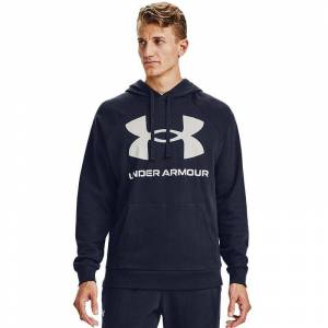Men's Under Armour Rival Fleece Hoodie, Size: Small, Blue