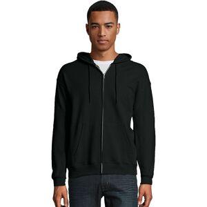 Hanes Men's Hanes EcoSmart Fleece Full-Zip Hooded Jacket, Size: Medium, Black