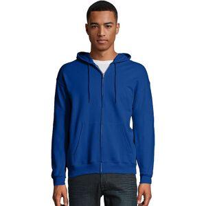 Hanes Men's Hanes EcoSmart Fleece Full-Zip Hooded Jacket, Size: Medium, Dark Blue