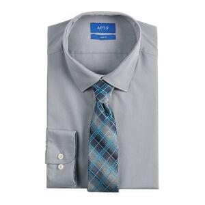 Apt. 9 Men's Apt. 9 Extra-Slim Fit Dress Shirt & Tie Set, Size: Large-36/37, Silver