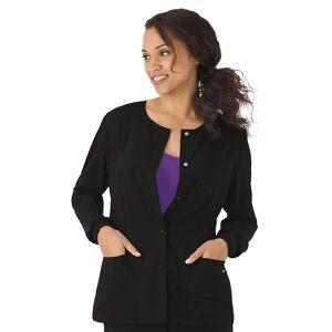 Women's Jockey Scrubs Classic Long Sleeve Jacket 2356, Size: XL, Black