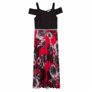 Girls 7-16 Speechless Cold-Shoulder Pleated Maxi Dress, Girl's, Size: 8, Dark Red