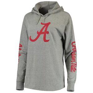 Women's Pressbox Heathered Gray Alabama Crimson Tide Lightweight Pullover Hoodie T-Shirt, Size: Small, Grey