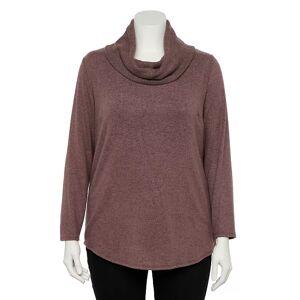 Apt. 9 Plus Size Apt. 9 Fuzzy Cowlneck Top, Women's, Size: 1XL, Dark Pink