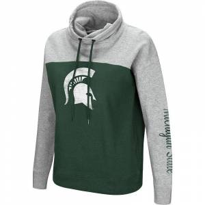 Colosseum Women's Colosseum Michigan State Spartans Pullover Hoodie, Size: XXL, Grey