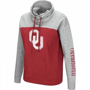 Colosseum Women's Colosseum Oklahoma Sooners Pullover Hoodie, Size: Small, Grey