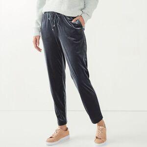 Nine West Women's Nine West Belted Tapered-Leg Pull-On Pants, Size: Large, Med Grey