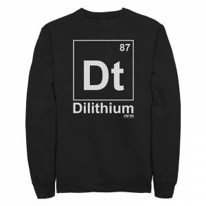 Licensed Character Juniors' Star Trek The Original Series Dilithium Element Crew Sweatshirt, Girl's, Size: Medium, Black