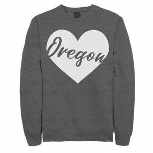 Unbranded Juniors' Oregon Heart Fleece, Girl's, Size: Medium, Grey