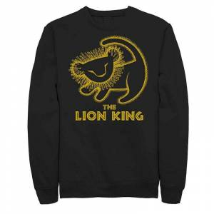 Licensed Character Juniors Lion King Baby Simba Drawing Fleece, Girl's, Size: Large, Black
