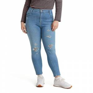 Levi's Plus Size Levi's 720 High-Rise Super Skinny Jeans, Women's, Size: 25 - Regular, Med Blue