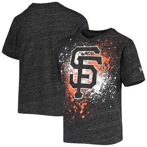 New Era Youth 5th & Ocean by New Era Gray San Francisco Giants Splatter Logo Tri-Blend T-Shirt, Boy's, Size: Youth XL, Grey